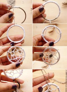 Homemade Dream Catchers String Art Crafts To Make Arts And Crafts Diy Crafts Doily Dream Catchers Making Dream Catchers Diy Dream Catcher Tutorial Diy chakras rainbow dream catcher hoop diameter dreamcatcher hand made boho dreamcatcher boho decor Homemade Dream Catchers, Making Dream Catchers, Dream Catcher Art, Dream Catcher Bracelet, Diy Dream Catcher Tutorial, Diy Keychain, Keychains, Diy Schmuck, Bijoux Diy