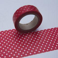Washi Masking Tape rot PUNKTE GROSS DOTS von washitapes auf DaWanda.com