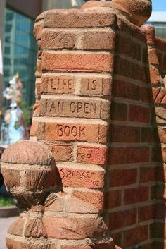 """""""Life is an Open Book"""" - Incredible Brick Sculptures by Brad Spencer - My Modern Met"""