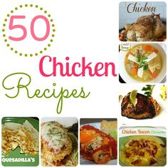 50 Chicken Recipes in one list!! Find something for dinner or lunch easily with this list! #Delicious #ChickenRecipes