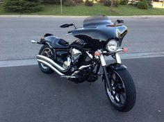 2012 v star 950 cruiser with a memphis shades batwing for Yamaha dealers in memphis tn