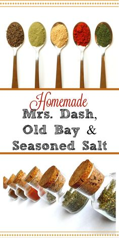 Why are you wasting money on stale store-bought spice mixes? Make your own Mrs. Dash, Old Bay and Seasoned Salt for pennies with fresher spices and no nasty fillers.