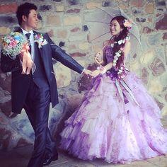 【カワイイ❤】ラプンツェルをテーマにした結婚式【お花たくさん✿】
