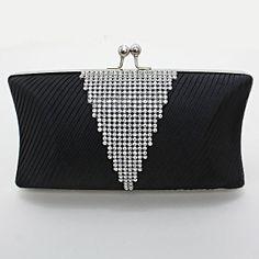 Classy V-Shaped Crystal Clutch Bag / 221704