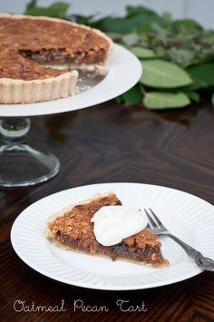 Oatmeal Pecan Tart (Gluten Free) via @Lindsey Grande Johnson // Cafe Johnsonia #glutenfree #pecan #tart