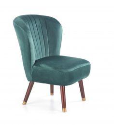 Fotoliu tapitat Lanister Dark Green #homedecor #inspiration #interiordesign #home Fairmont Park, Retro Design, Accent Chairs, Dining Chairs, Living Room, Interior Design, Modern, Furniture, Home Decor