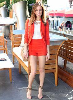 high-waist-shorts-with-red-orange-blazer