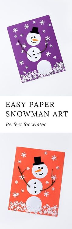 Winter is the perfect season for snowman crafts! Whether kids are learning about snow and snowflakes or simply enjoying a winter craft at home, this open-ended paper snowman craft is a fun way to extend your winter unit. via @https://www.pinterest.com/fireflymudpie/