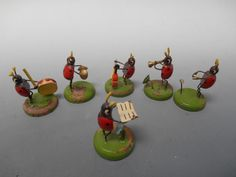 Miniature German Lady Bug Band Set of 6 Figurines Vintage