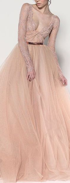 More blush?? YES PLEASE!! Love this old design from Paolo Sebastian. This is the dress which influenced the colour of my wedding dress!