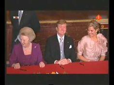 Inhuldiging Koning Willem Alexander 30-04-2013 Abdicatie Beatrix