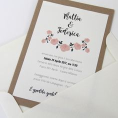Wedding Invitation  Rustic Chic Wedding Stationery  www.laughlau.com/wedding