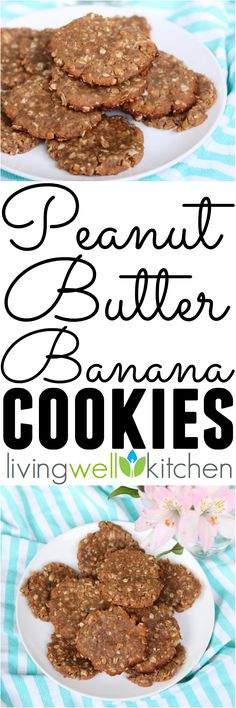 Satisfy your sweet tooth with these simple, vegan Peanut Butter Banana Cookies from @memeinge that have no added sugar, butter, or oil. Easy, budget friendly, gluten free dessert recipe