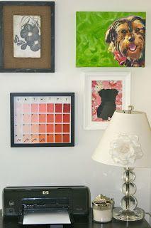 DIY dry-erase ombré calendar