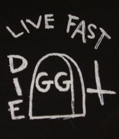 GG Allin ''Live Fast'' Patch $1.45 #punk #music #punkpatches #clothing www.drstrange.com