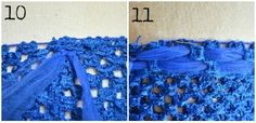 "how to ""line"" a crochet tutu top with more tulle"