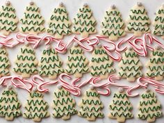 Get Minty Christmas Tree Cutout Cookies Recipe from Food Network