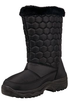 459746098 Amazon.com | Mountain Warehouse Frosty Womens Fleece Lined Snow Boots Black  6 M US Women | Snow Boots