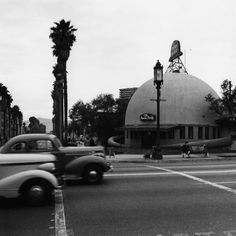Ansel Adams' photo of the Brown Derby in Hollywood in 1940.