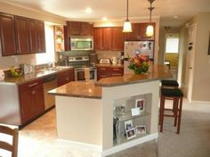 Split level remodel open floor plan for the home for Bi level home kitchen ideas