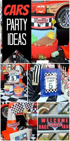 What a fantastic Disney cars birthday party for a five year old boy!  See more party ideas at CatchMyParty.com!