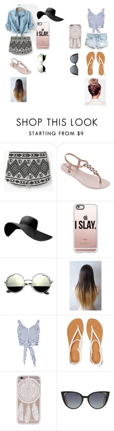"""""""Bestfriends Summer Outfit #13"""" by klarisaaa12 ❤ liked on Polyvore featuring MANGO, IPANEMA, Casetify, H&M, Aéropostale and Fendi"""