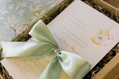 vintage rustic elegant outdoor growing their nest bird cage baby shower invitation arrives in box