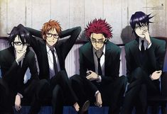K Project ~~~ Men in Black : Side-note: I want MiB style images for EVERY anime. That would be fun!