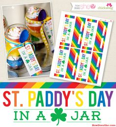 Fun little gift to give co-workers or friends on St. Pat's Day. FREE printable.