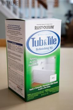 Do I dare attack our 1970's tile job on our bathroom? I think I do! Rust-Oleum paint for old or icky bathrooms.