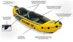 kayak hinchable para dos personas