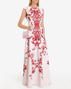 China red maxi dress