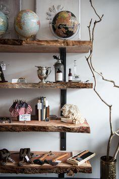 Raw edge shelves decor ideas 3