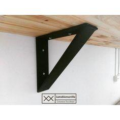 Soporte para tope de madera, fabricado en pletina de hierro de 6mm, resistente que ayudara a tu tope de madera a hacer una mesa de trabajo flotante.