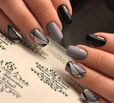 Natural Acrylic Black Almond & Square Nail Designs for Short Nails - Be . - Natural Acrylic Black Almond & Square Nail Designs for Short Nails – Be … – - Nail Art Diy, Cool Nail Art, Diy Nails, Cute Nails, Nail Art Ideas, Shellac Nails, Neon Nails, Square Nail Designs, Short Nail Designs