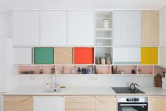 colorful kitchen design by dries otten / sfgirlbybay