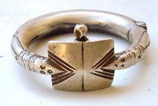 vintage antique ethnic tribal old silver bracelet bangle cuff gypsy hippie jewel