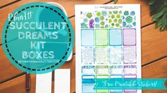 PlanIt! Succulent Dreams Full & Half Boxes – FREE printable planner stickers! | Return to Sender: Letters to the World