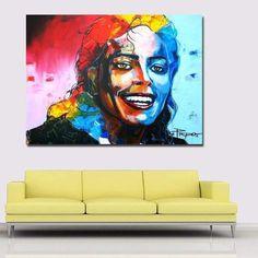 Tableau Pop Art Michael Jackson Portrait Art Michael Jackson, Tableau Pop Art, Portrait, Trippy, Decoration, Canvas Art, Ainsi, Comics, Artwork