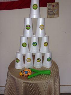 Ninja turtle birthday party games.