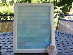 Mermaid Nursery Decor: DIY Mermaid/Fish Scale Paint Chip Art Decor