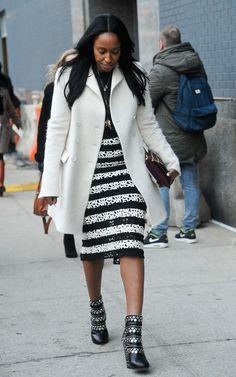 Shiona Turini at New York Fashion Week #streetstyle