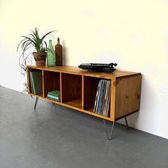 Sonor Large 140cm 55 Record Player TV LP Vinyl Storage