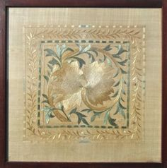 W764 MORRIS & CO FRAMED EMBROIDERY - £0.00 : Patch Rogers Arts & Crafts Design - 1850 - Present