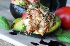 Stuffed avocados are easily one of my favorite lunches. I make several variations. They are so easy to make, usually pretty healthy, and oh so delicious. You can easily substitute canned or shredded chicken in this recipe, but I'm quite partial to a good quality tuna for the added healthy benefits. This recipe is quite...