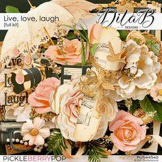 Word Art, Digital Scrapbooking, Overlays, Floral Wreath, Table Decorations, Paper, Frame, Inspiration, Design