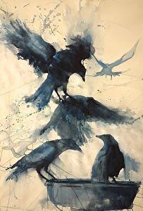 raven watercolor site:deviantart.com - Google Search