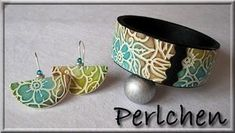 Pastel earrings and bracelette
