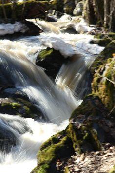 Waterfall in Espoo in spring