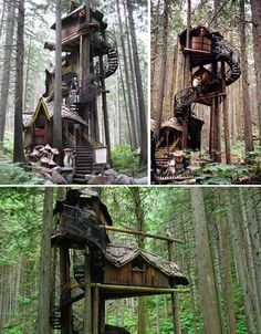 Fairy Tale Tree House  #Treehouse Pinned by www.modlar.com